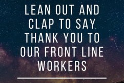 A round of applause tonight for our frontline workers