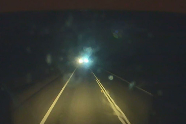 Article image for WATCH | 'Scary' moment on NSW highway