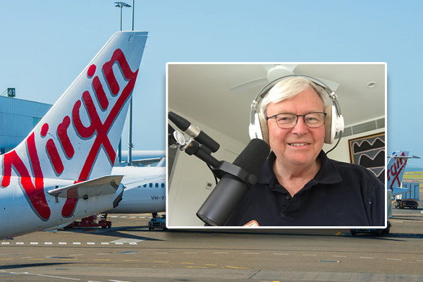 Article image for Government should've bailed out Virgin says ex-Prime Minister Kevin Rudd