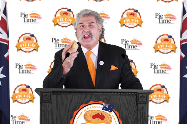 Article image for The Pie Minister steps out of 'pie-solation' to address the nation