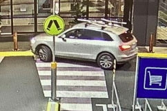 Stolen Audi driven into shopping centre entrance before jewellery heist