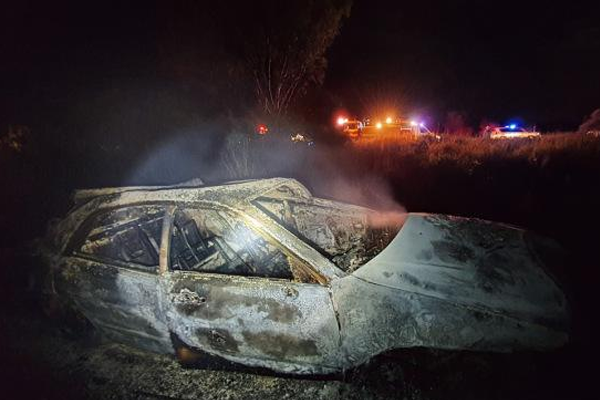 Article image for Driver thrown from vehicle in fiery car crash