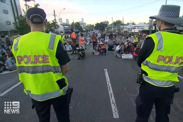 Article image for Story Bridge refugee protest deemed illegal