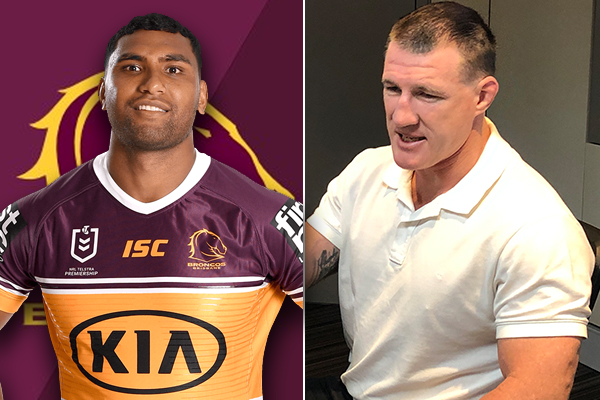 Article image for Paul Gallen casts doubt on Broncos' sacking of Tevita Pangai Jnr