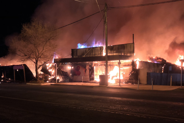Article image for Border community scrambles after fire destroys shops