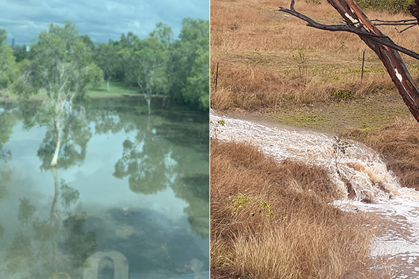 Article image for PHOTOS | Cannon Hill floods and regional dams fill after heavy rain