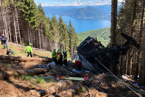 Article image for Fourteen dead after cable car crash in Italian Alps