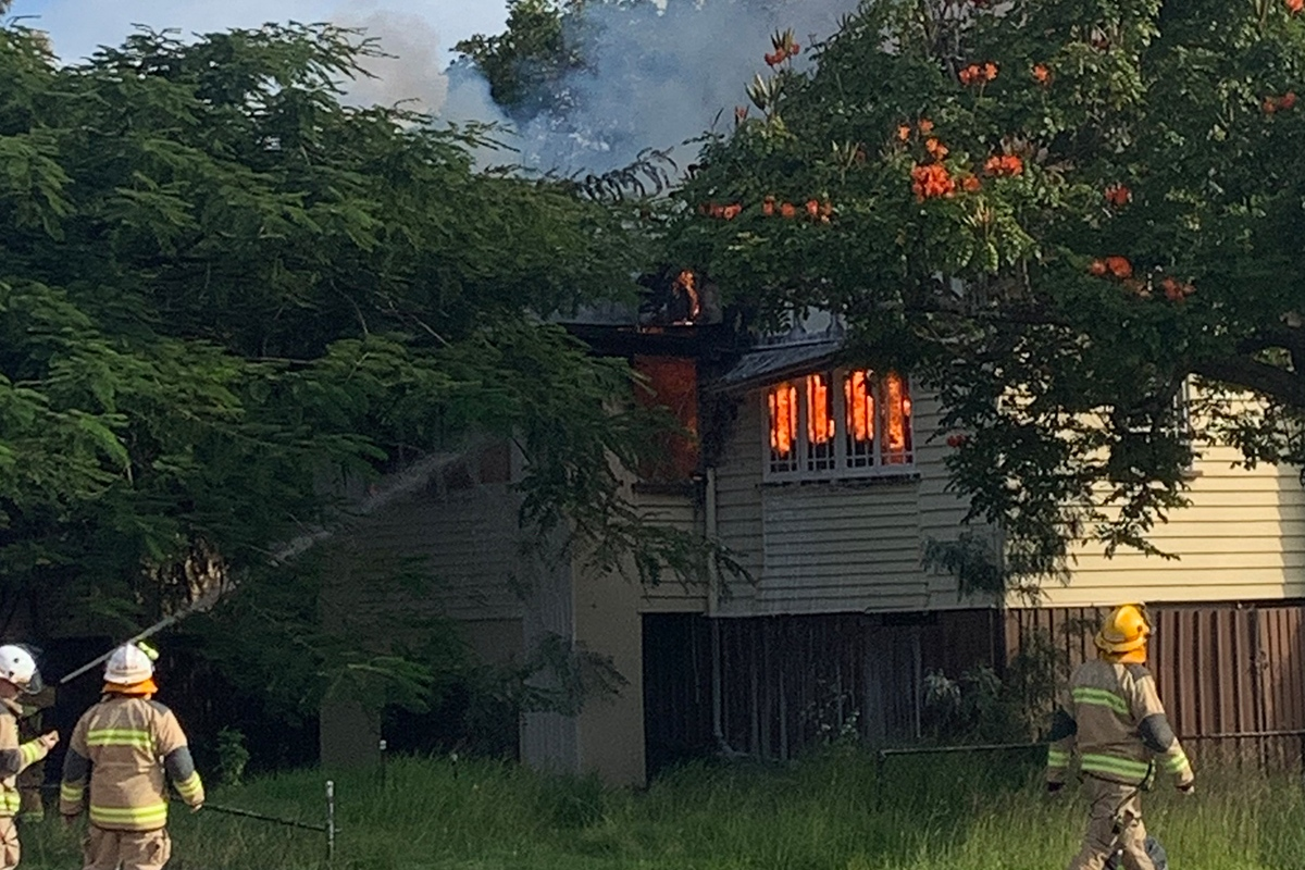 Article image for Hamilton house goes up in flames in suspected arson attack
