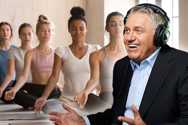Article image for The real story behind Ray Hadley's impromptu ladies' yoga session